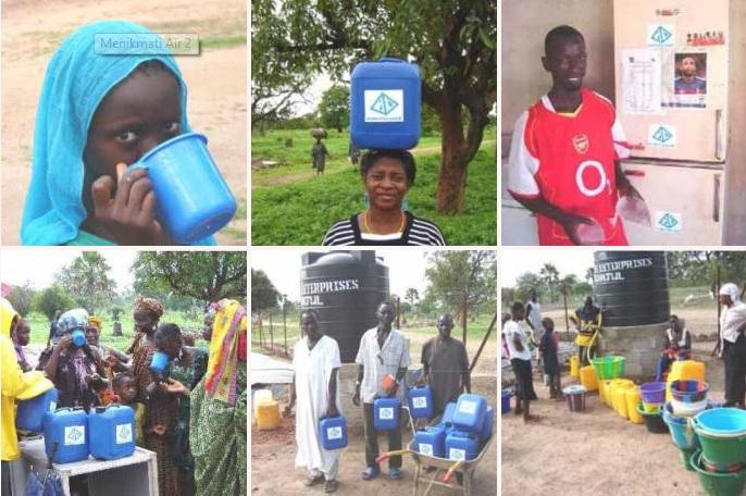 Gambar : Wajah-wajah bahagia masyarakat Afrika ketika bisa mendapatkan air bersih