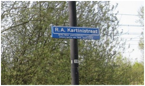 Jalan RA KArtini di Utrecth
